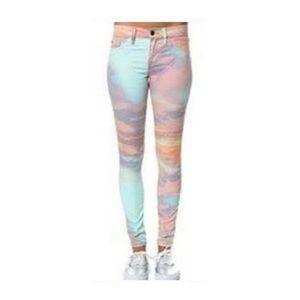 Tie Dye Skinny Jeans